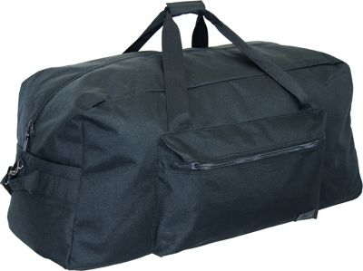 Netpack 30 inch 1200 D Interlace Poly Large Base Duffel Black - Netpack Travel Duffels
