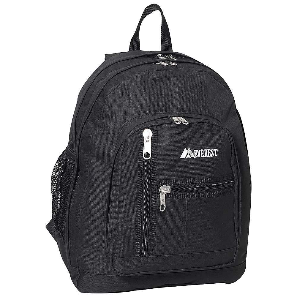 Everest Double Compartment Backpack Black - Everest Everyday Backpacks - Backpacks, Everyday Backpacks