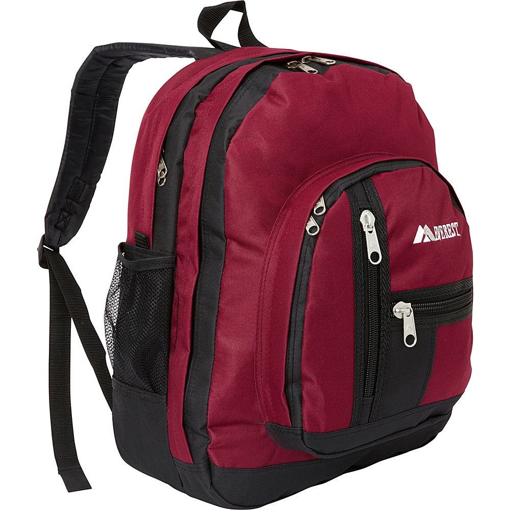 Everest Double Compartment Backpack Burgundy/Black - Everest Everyday Backpacks - Backpacks, Everyday Backpacks
