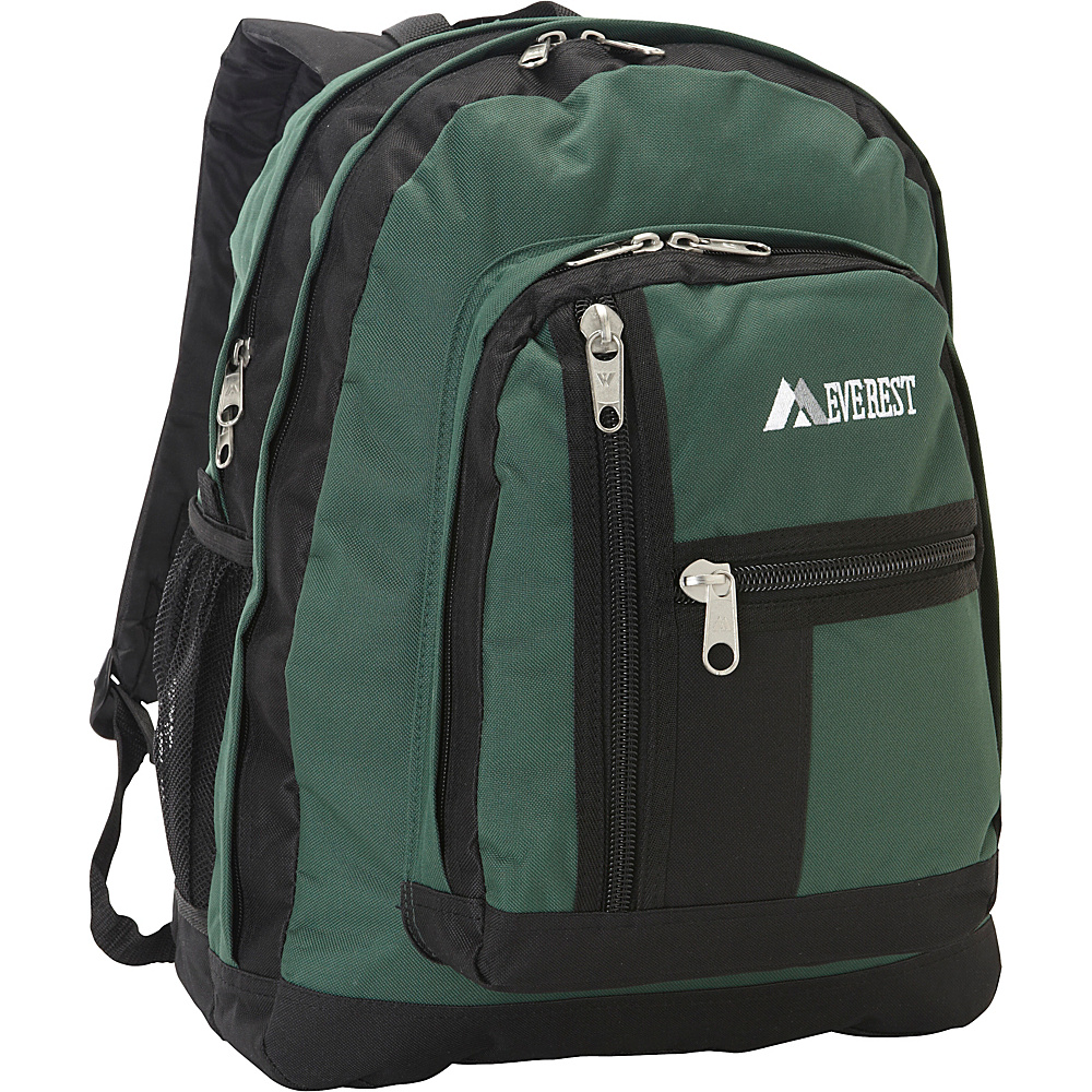Everest Double Compartment Backpack Green/Black - Everest Everyday Backpacks