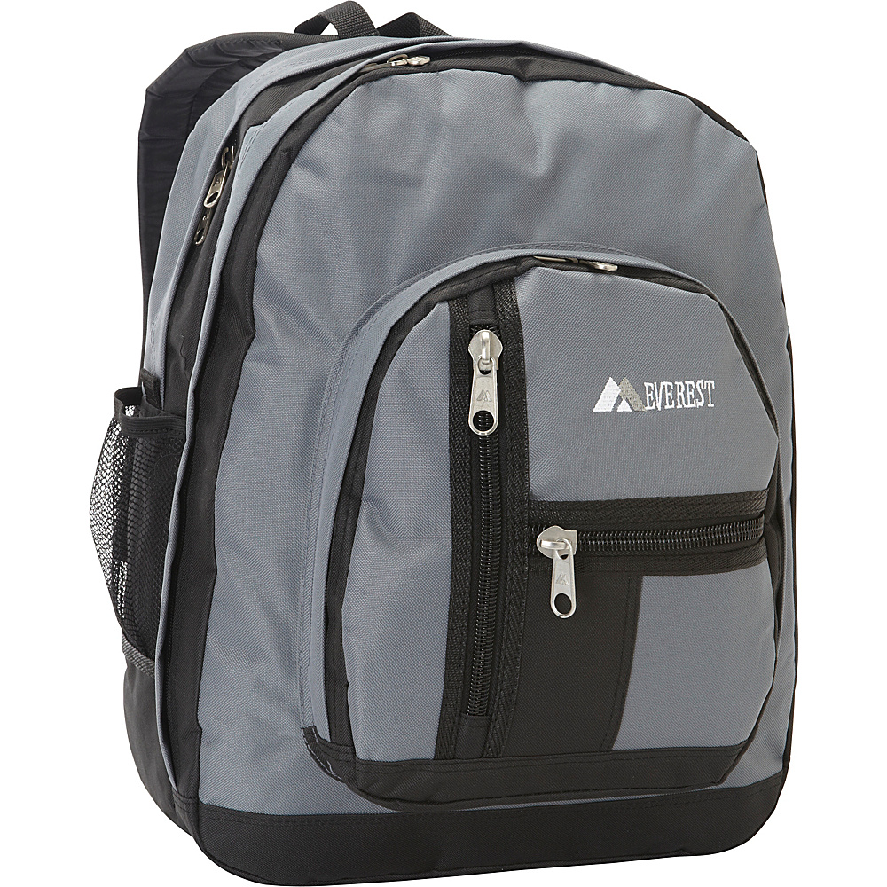 Everest Double Compartment Backpack Gray/Black - Everest Everyday Backpacks - Backpacks, Everyday Backpacks