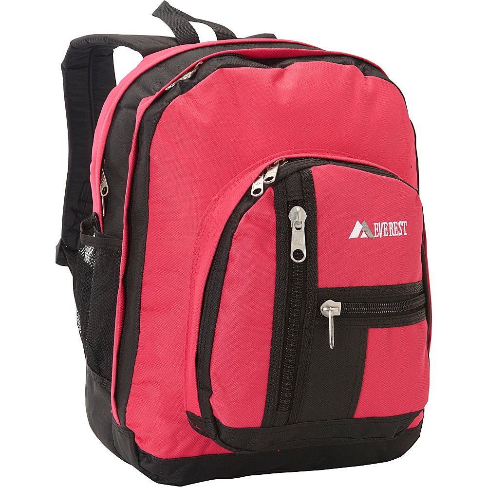Everest Double Compartment Backpack Hot Pink / Black - Everest Everyday Backpacks