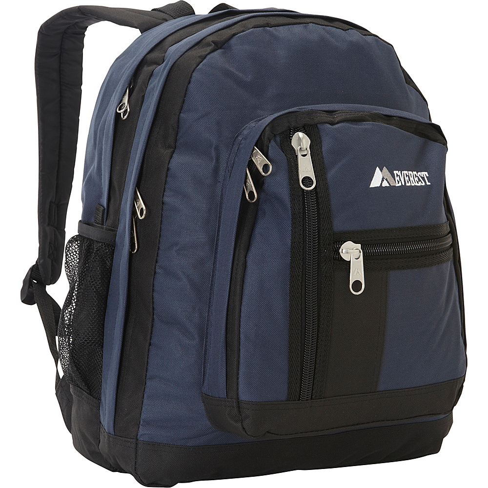 Everest Double Compartment Backpack Navy/Black - Everest Everyday Backpacks - Backpacks, Everyday Backpacks
