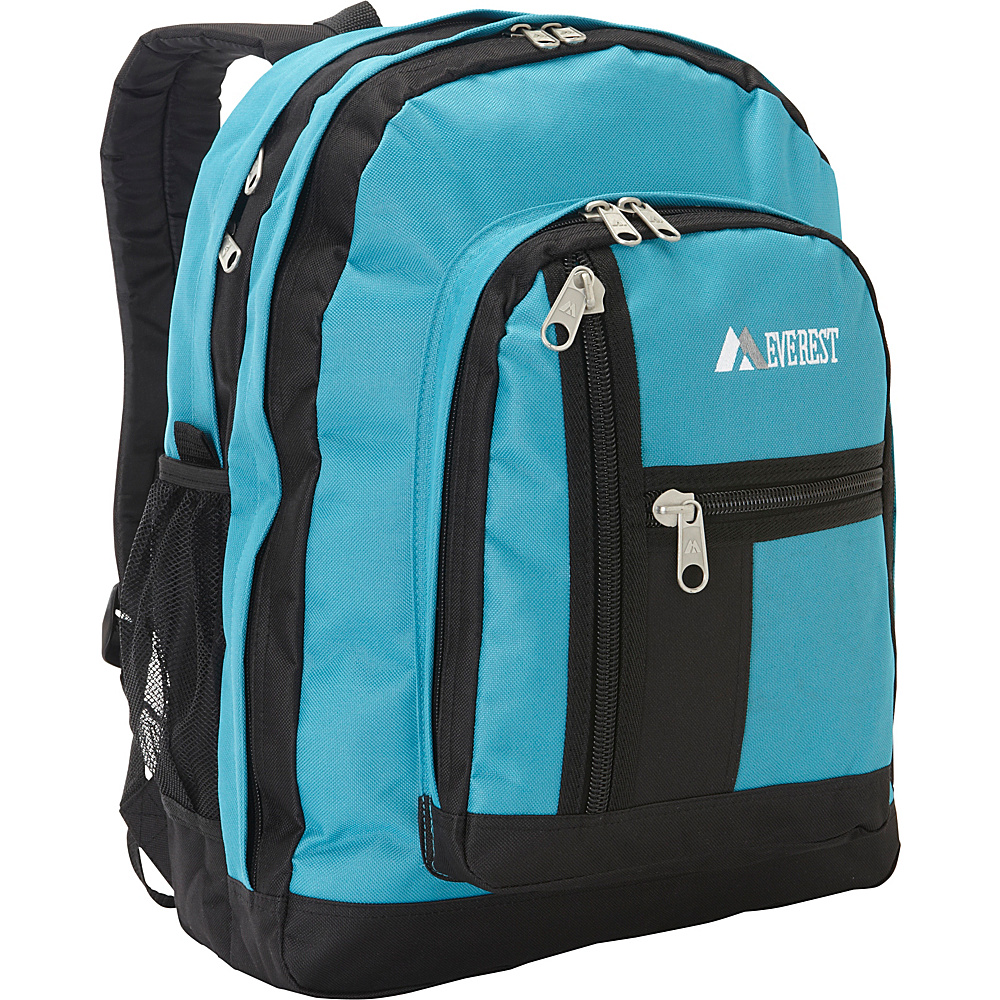 Everest Double Compartment Backpack Turquoise / Black - Everest Everyday Backpacks