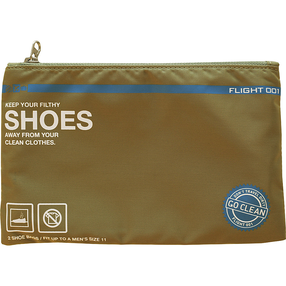 Flight 001 Go Clean Shoes Olive Flight 001 Travel Organizers