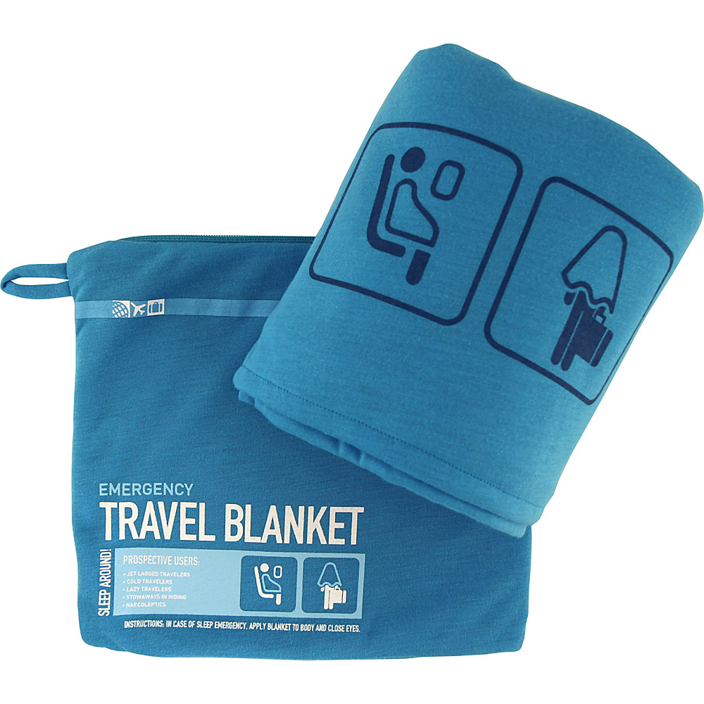Flight 001 Travel Emergency Blanket Blue Japan Flight 001 Travel Pillows Blankets