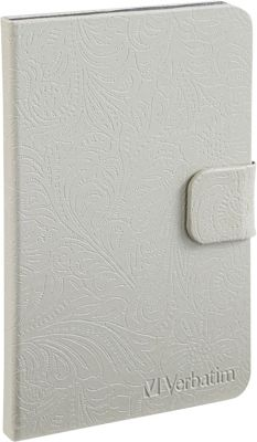 Verbatim Folio Case for Kindle Fire Pearl White - Verbatim Electronic Cases