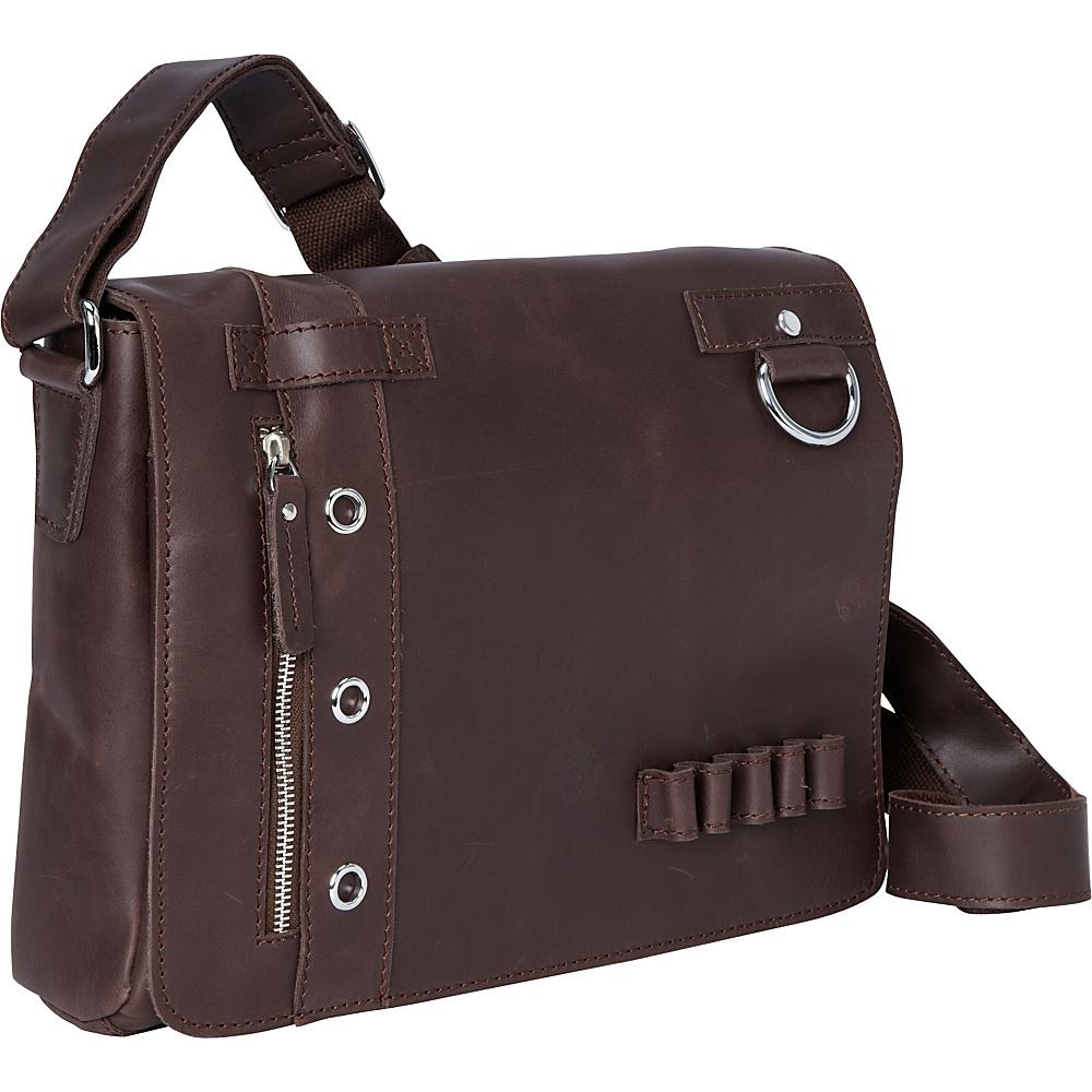 Vagabond Traveler 14.5 Art Panel Messenger Coffee Brown - Vagabond Traveler Messenger Bags - Work Bags & Briefcases, Messenger Bags