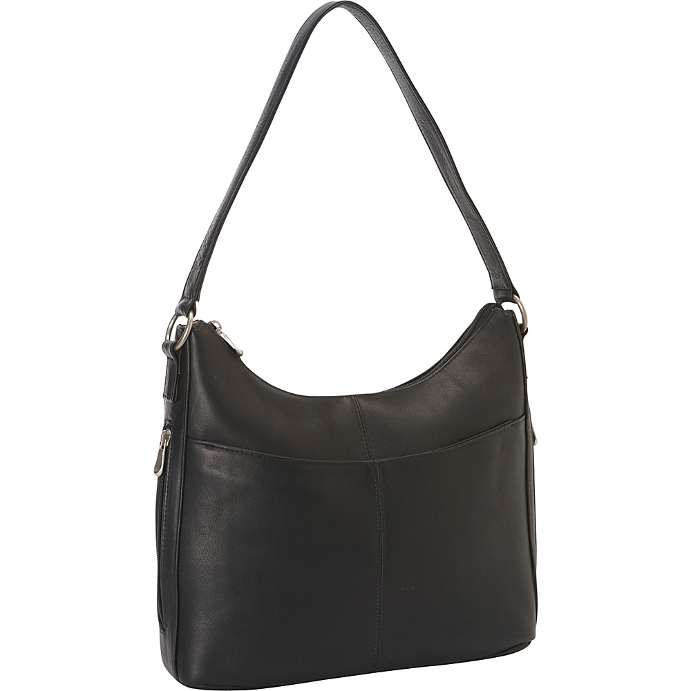 Le Donne Leather Bella Hobo Black - Le Donne Leather Leather Handbags - Handbags, Leather Handbags