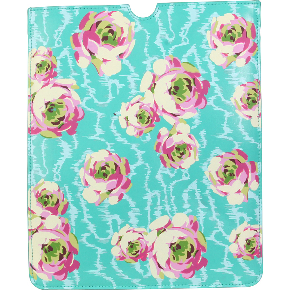 Amy Butler for Kalencom Lucy iPad Case Flowing Buds Turquoise - Amy Butler for Kalencom Electronic Cases