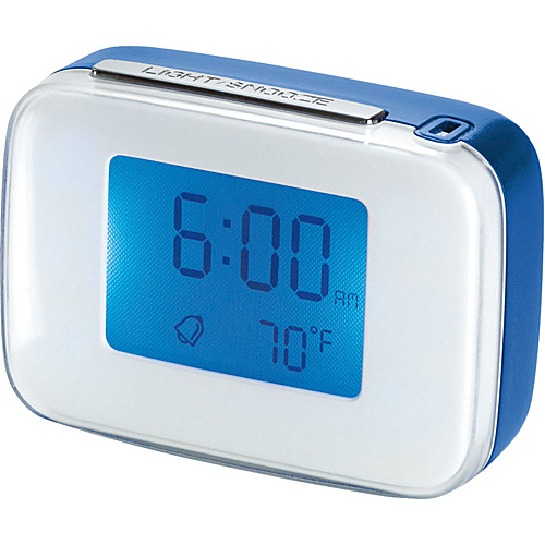 Travel Smart by Conair Voice-Activated Alarm Clock Blue/White - Travel Smart by Conair Travel Electronics