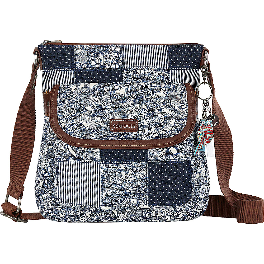 Sakroots Artist Circle Flap Crossbody Navy Spirit Desert Patch Sakroots Fabric Handbags