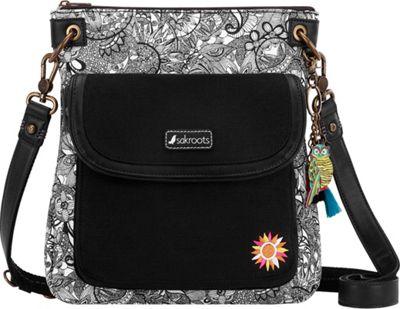 Sakroots Artist Circle Flap Crossbody Black & White Spirit Desert - Sakroots Fabric Handbags