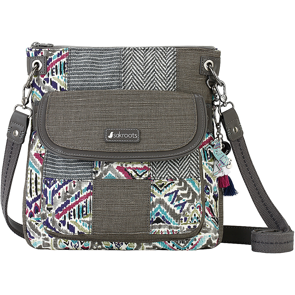 Sakroots Artist Circle Flap Crossbody Slate Brave Beauti - Sakroots Fabric Handbags - Handbags, Fabric Handbags
