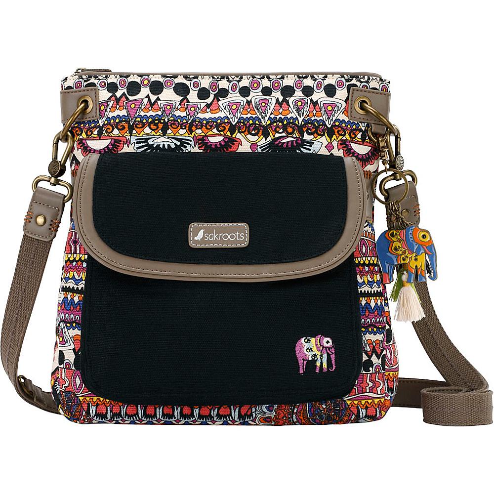 Sakroots Artist Circle Flap Crossbody Camel One World - Sakroots Fabric Handbags - Handbags, Fabric Handbags