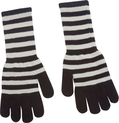 Magid Striped Long Glove Grey/Black - Magid Hats/Gloves/Scarves