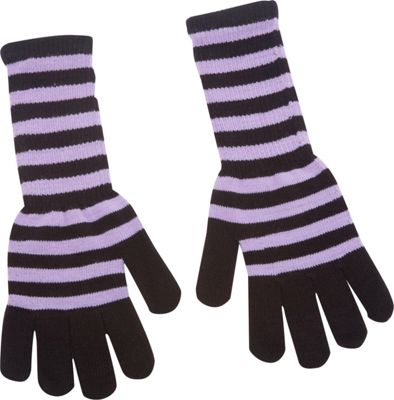 Magid Striped Long Glove Purple/Black - Magid Hats/Gloves/Scarves