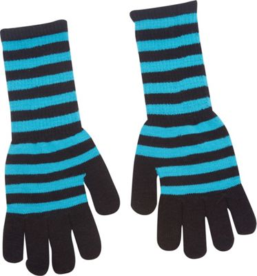 Magid Striped Long Glove Turquoise/Black - Magid Hats/Gloves/Scarves