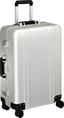 Zero Halliburton Classic Aluminum 24 inch 4 Wheel Spinner Travel Case Silver - Zero Halliburton Hardside Checked