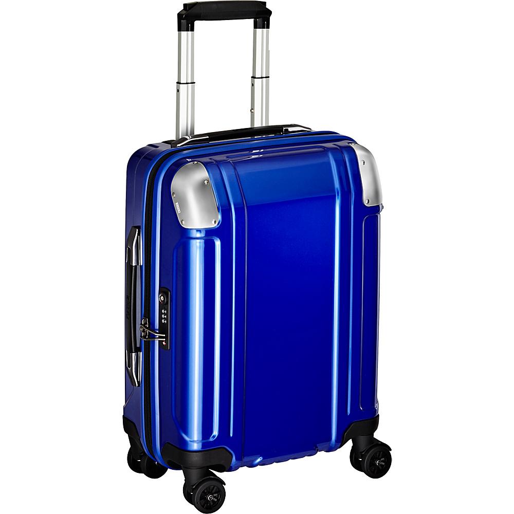 Zero Halliburton Geo Polycarbonate Carry On 4 Wheel Spinner Travel Case Blue Zero Halliburton Hardside Carry On