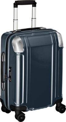 Zero Halliburton Geo Polycarbonate Carry On 4 Wheel Spinner Travel Case Gun Metal