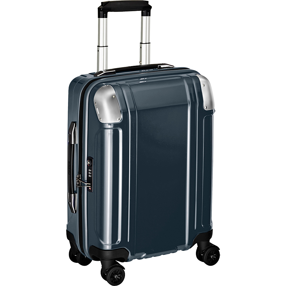 Zero Halliburton Geo Polycarbonate Carry On 4 Wheel Spinner Travel Case Gun Metal GM Zero Halliburton Hardside Carry On