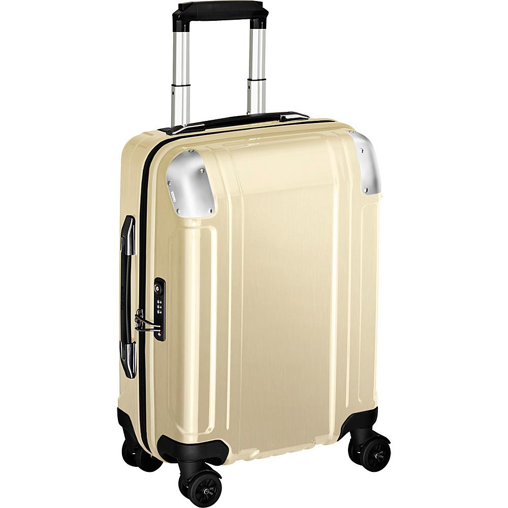 Zero Halliburton Geo Polycarbonate Carry On 4 Wheel Spinner Travel Case Polished Gold PG Zero Halliburton Hardside Carry On