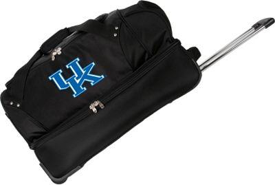 Denco Sports Luggage NCAA University of Kansas Jayhawks 27 inch Drop Bottom Wheeled Duffel Bag Black - Denco Sports Luggage Travel Duffels