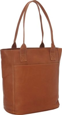 Piel XL Leather Laptop Tote Bag Saddle - Piel Women's Business Bags