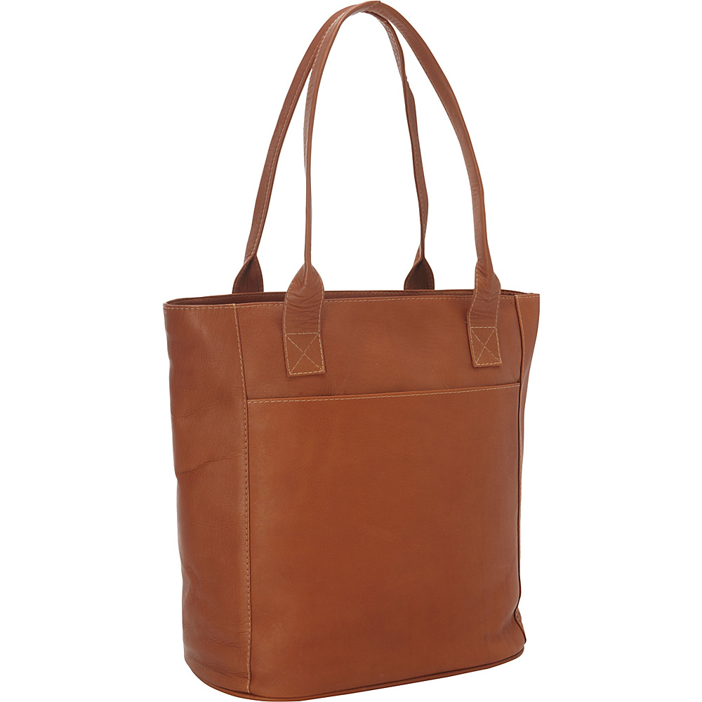 Piel XL Leather Laptop Tote Bag Saddle - Piel Womens Business Bags - Work Bags & Briefcases, Women's Business Bags