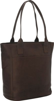 Piel XL Leather Laptop Tote Bag Chocolate - Piel Women's Business Bags