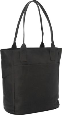 Piel XL Leather Laptop Tote Bag Black - Piel Women's Business Bags