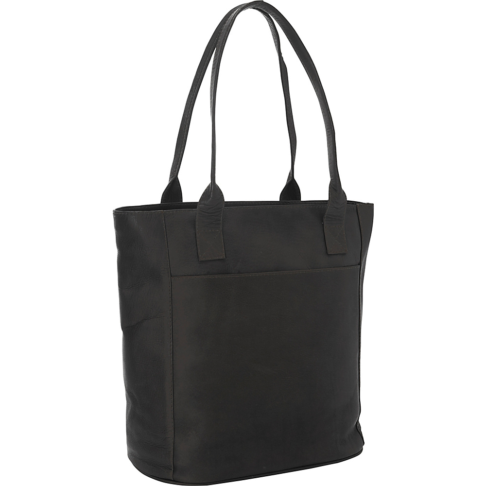 Piel XL Leather Laptop Tote Bag Black - Piel Womens Business Bags - Work Bags & Briefcases, Women's Business Bags