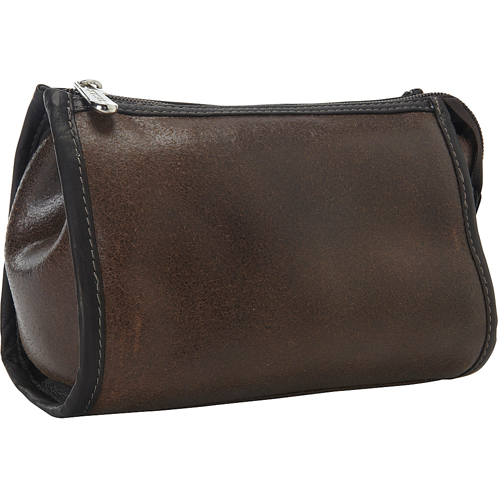 Piel Vintage Leather Tear-Drop Cosmetic Bag Vintage Brown - Piel Womens SLG Other - Women's SLG, Women's SLG Other
