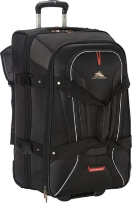 High Sierra AT7 26 inch Wheeled Duffel with Backpack Straps Black - High Sierra Travel Duffels