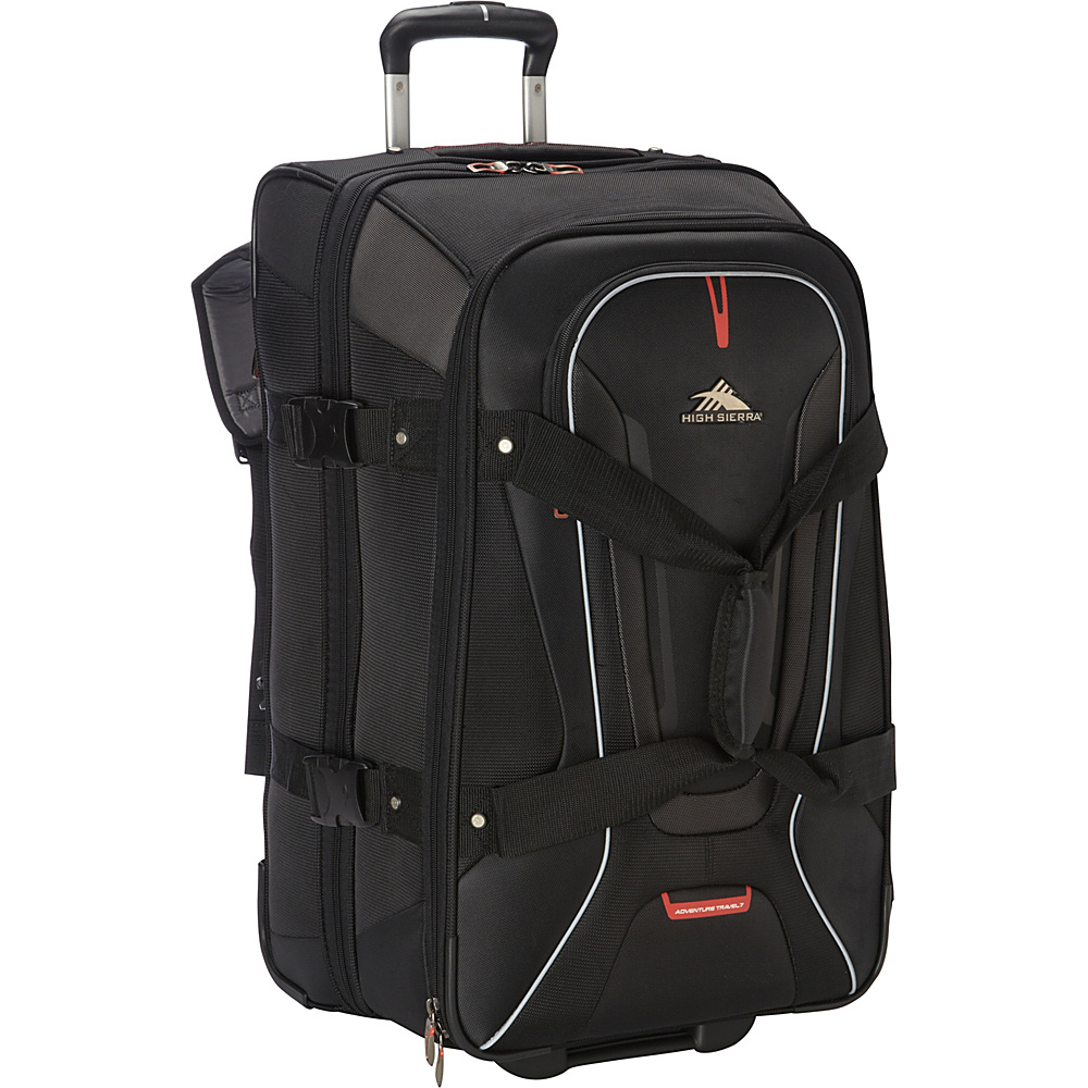 High Sierra AT7 26 inch Wheeled Duffel with Backpack Straps Black High Sierra Rolling Duffels