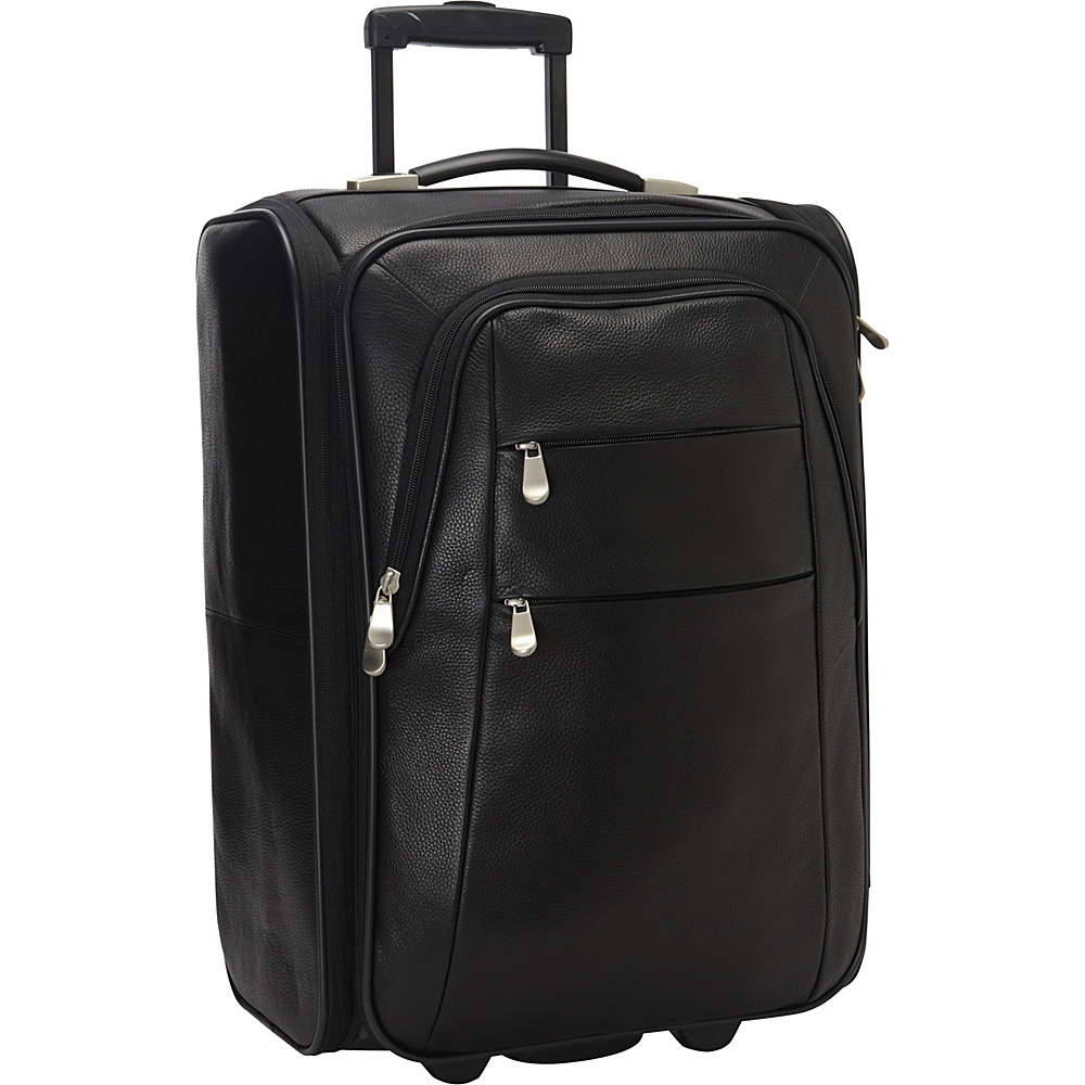 "Bellino Leather Folding Laptop Carry-On 21"" Black - Bellino Softside Carry-On"