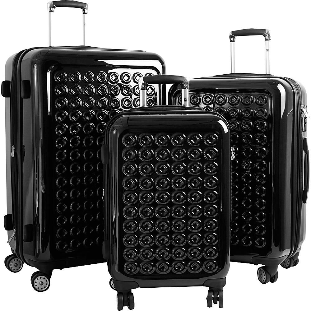J World New York JONIT 3PC Hardside Spinner Set Black - J World New York Luggage Sets - Luggage, Luggage Sets