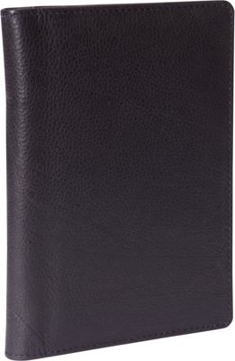Budd Leather Leather Passport Case Black - Budd Leather Travel Wallets