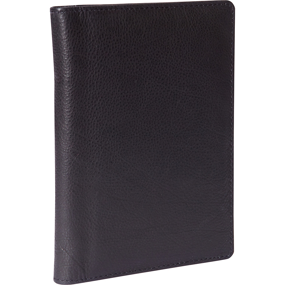 Budd Leather Leather Passport Case Black Budd Leather Travel Wallets