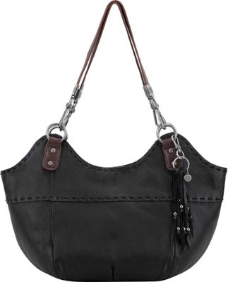 The Sak Indio Satchel Shoulder Bag Black - The Sak Leather Handbags