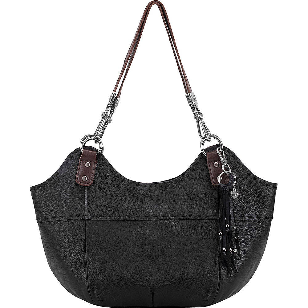 The Sak Indio Satchel Shoulder Bag Black The Sak Leather Handbags