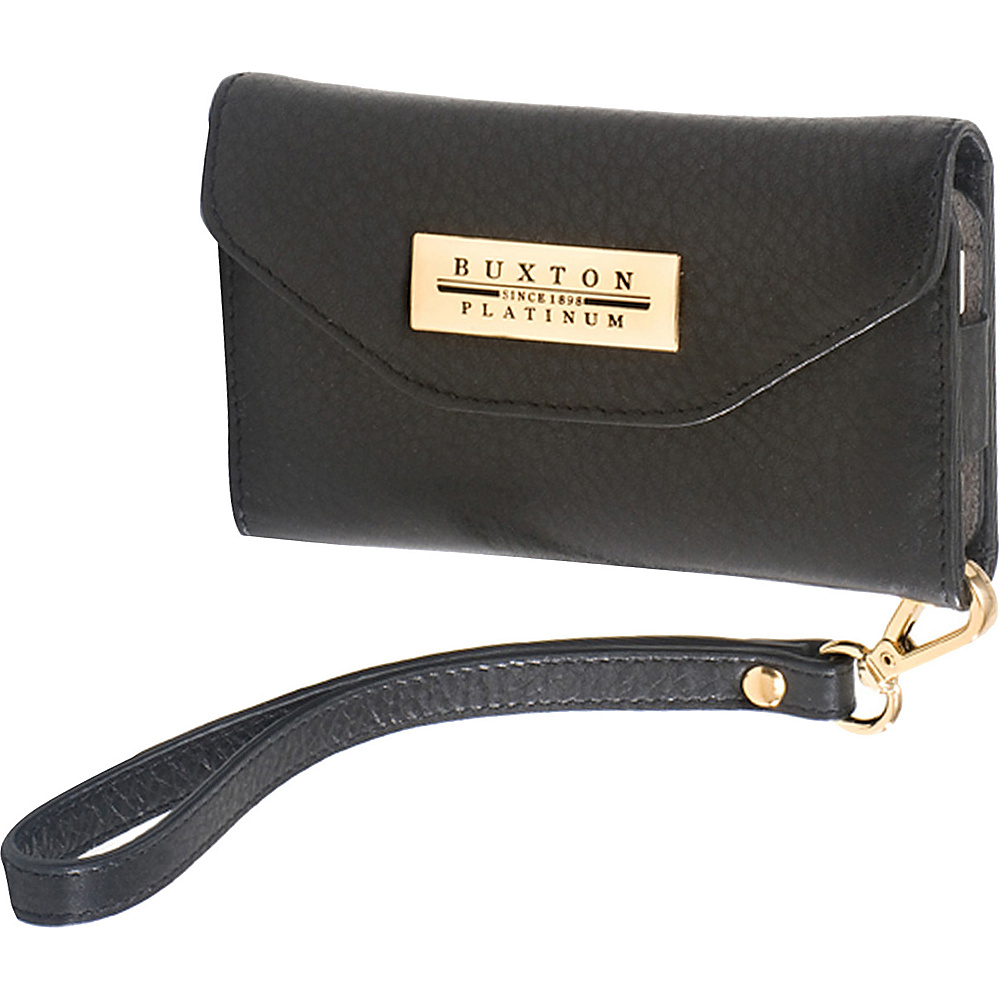 Buxton Cell/Card Wristlet Black - Buxton Womens Wallets - Women's SLG, Women's Wallets
