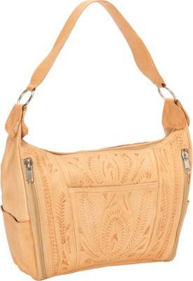 Ropin West Concealed Weapon Handbag Natural - Ropin West Leather Handbags