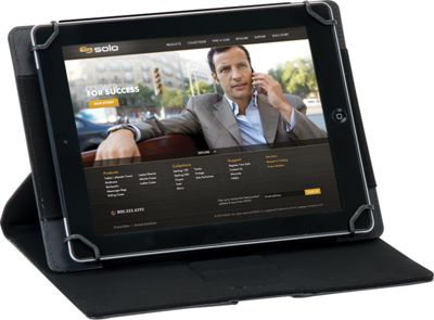 SOLO Summit Universal Tablet Case, fits tablets 8.5 inch up to 11 inch Black - SOLO Electronic Cases