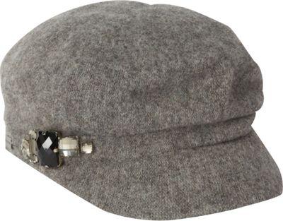 Betmar New York Rhinestone Cap One Size - Grey Flannel - Betmar New York Hats/Gloves/Scarves