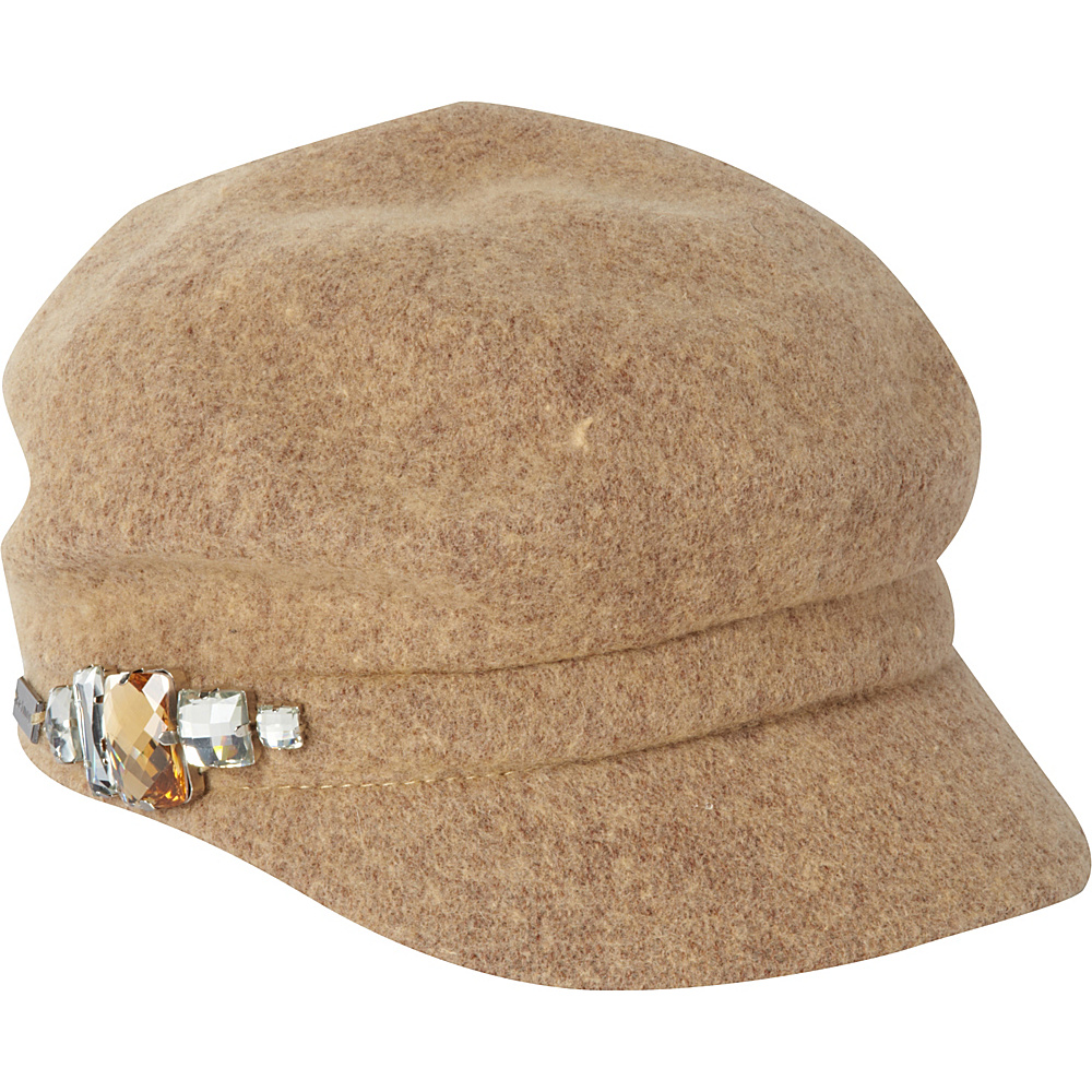 Betmar New York Rhinestone Cap Camel Betmar New York Hats Gloves Scarves