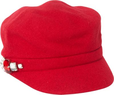 Betmar New York Rhinestone Cap One Size - Red - Betmar New York Hats/Gloves/Scarves
