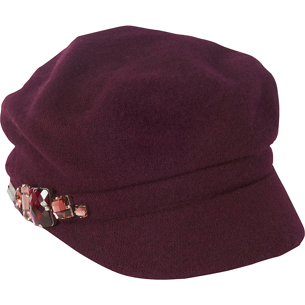 Betmar New York Rhinestone Cap Berry Betmar New York Hats Gloves Scarves