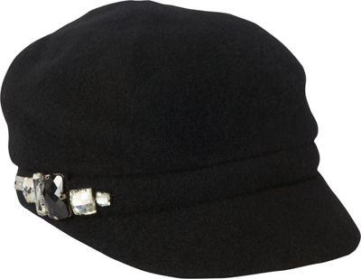 Betmar New York Rhinestone Cap One Size - Black - Betmar New York Hats/Gloves/Scarves